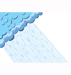 Of raining cloud blue sky vector