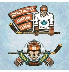 Amateur hockey league vector