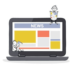 Online media and news vector