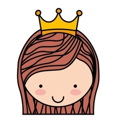 queen character isolated icon design vector image