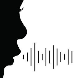Child voice in black color vector