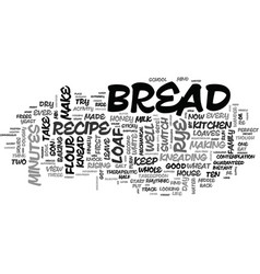 A recipe for rye bread text word cloud concept vector