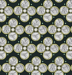 Abstract circles dark endless seamless pattern vector