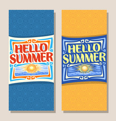 banners for summer season vector image vector image