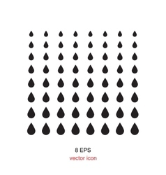 Black drop icon on a white background vector