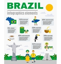 Brazilian culture infographic elements poster vector