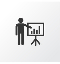 Business presentation icon symbol premium quality vector