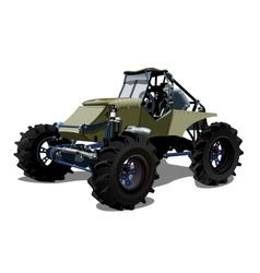 Cartoon buggy vector image vector image