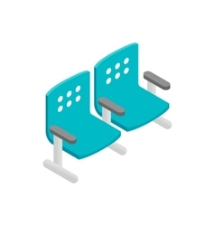 Chairs waiting area isometric 3d icon vector