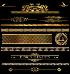 Design golden elements vector image vector image