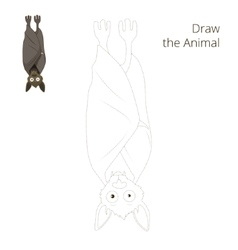 Draw the forest animal bat cartoon vector image vector image