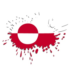 Flag of greenland as spot vector