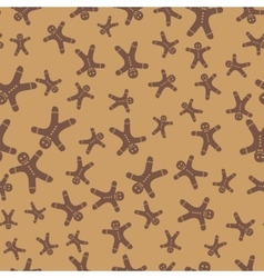 Gingerbread man seamless background vector image