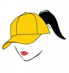 girl with cap vector image vector image