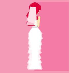 Girls in bride costume no6 vector