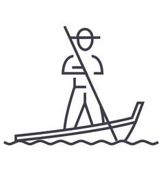 gondolavenice line icon sign vector image