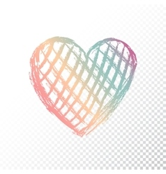 Heart with gradient color vector