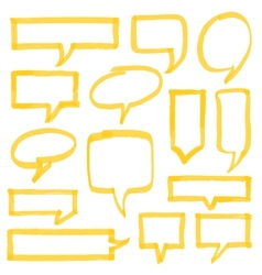 Highlighter Speech Bubbles Design Elements vector image vector image