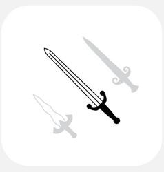 knives sharp blades symbols vector image