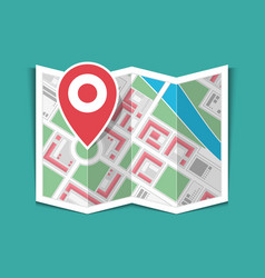 map with pin vector image