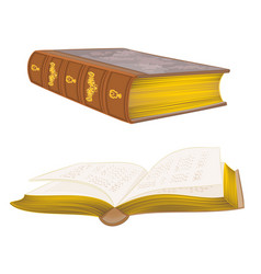Old leather-bound books vintage hand draw vector