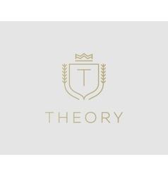 Premium monogram letter t initials ornate vector