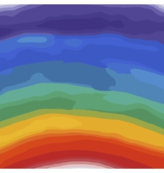 Rainbow colors watercolor background vector image