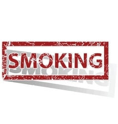Smoking outlined stamp vector