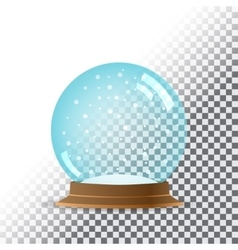 Snow globe transparent background vector