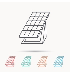 Solar collector icon sunlight energy battery vector