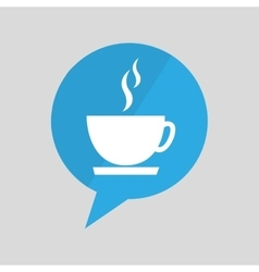 Symbol cup coffee hot design vector