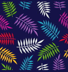 Tropical summer jungle plant color background art vector