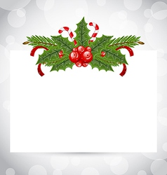 Christmas elegant card with holiday decoration vector