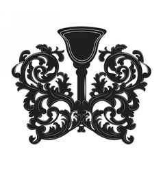 Baroque style wall lamp vector