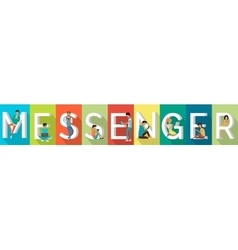 Messenger banner in flat vector