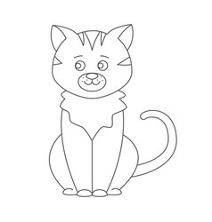 cat for coloring book vector image