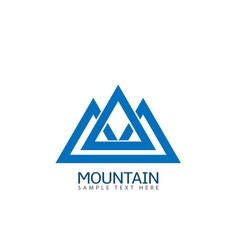 Mountain logo icon vector