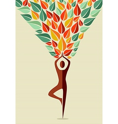India yoga human tree vector image