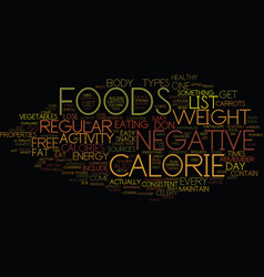 Free list of negative calorie foods what are they vector