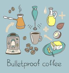 Bull coffee vector