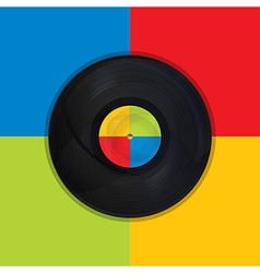 Vintage record pop art vector