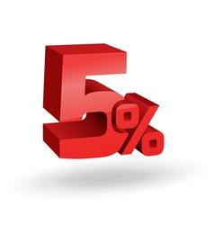 5 percent digits vector