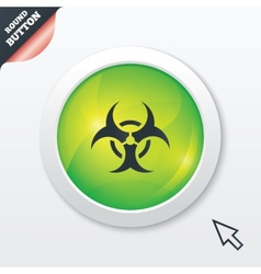 Biohazard sign icon danger symbol vector