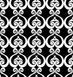 Abstract background with ornament black and white vector