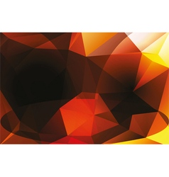 Polygon background in dark colors vector