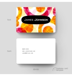 Business card template with abstract vector