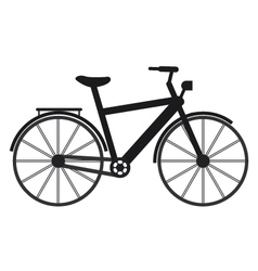 Bike on white background vector