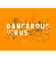 Design concept dangerous virus vector