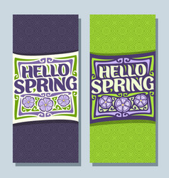 Banners for spring season vector