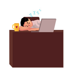 businessman manager sleeping sweetly at office vector image
